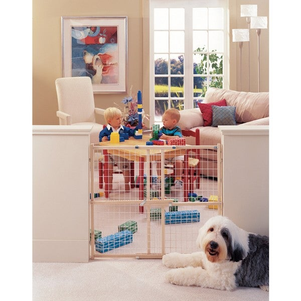 North States Extra Wide Wire Mesh Wood Gate