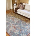 Hand-knotted Blue Erebos New Zealand Wool Rug (4' x 6')