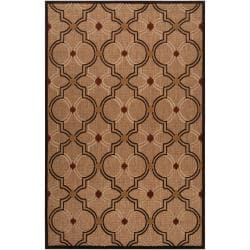 Woven Tan Tigua Indoor/Outdoor Moroccan Lattice Rug (8'8 x 12')