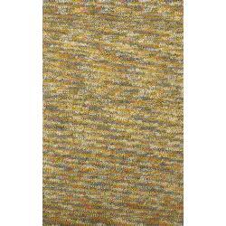 Hand-woven Multicolored Kofun Wool Rug (2' x 3')