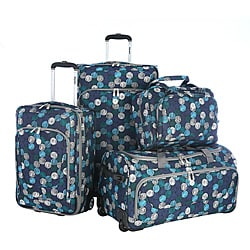 Olympia 'Oslo' Four-piece Expandable Polyester Luggage Set