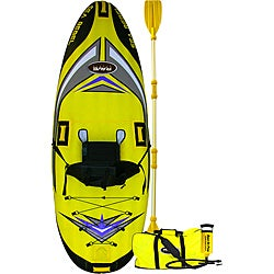 Rave Sports Sea Rebel Inflatable One-person Kayak with Paddle