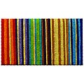 Hand-woven Extra-thick Rainbow Coir Doormat