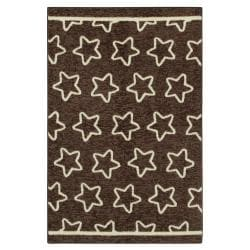 Twinkle Chocolate Brown Kid's Rug (3'4 x 5')