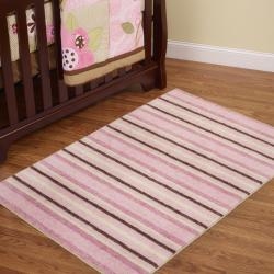 Cuddle Light Pink Kid's Rug (5' x 7')