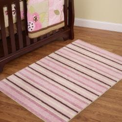Cuddle Light Pink Kid's Rug (3'4 x 5')