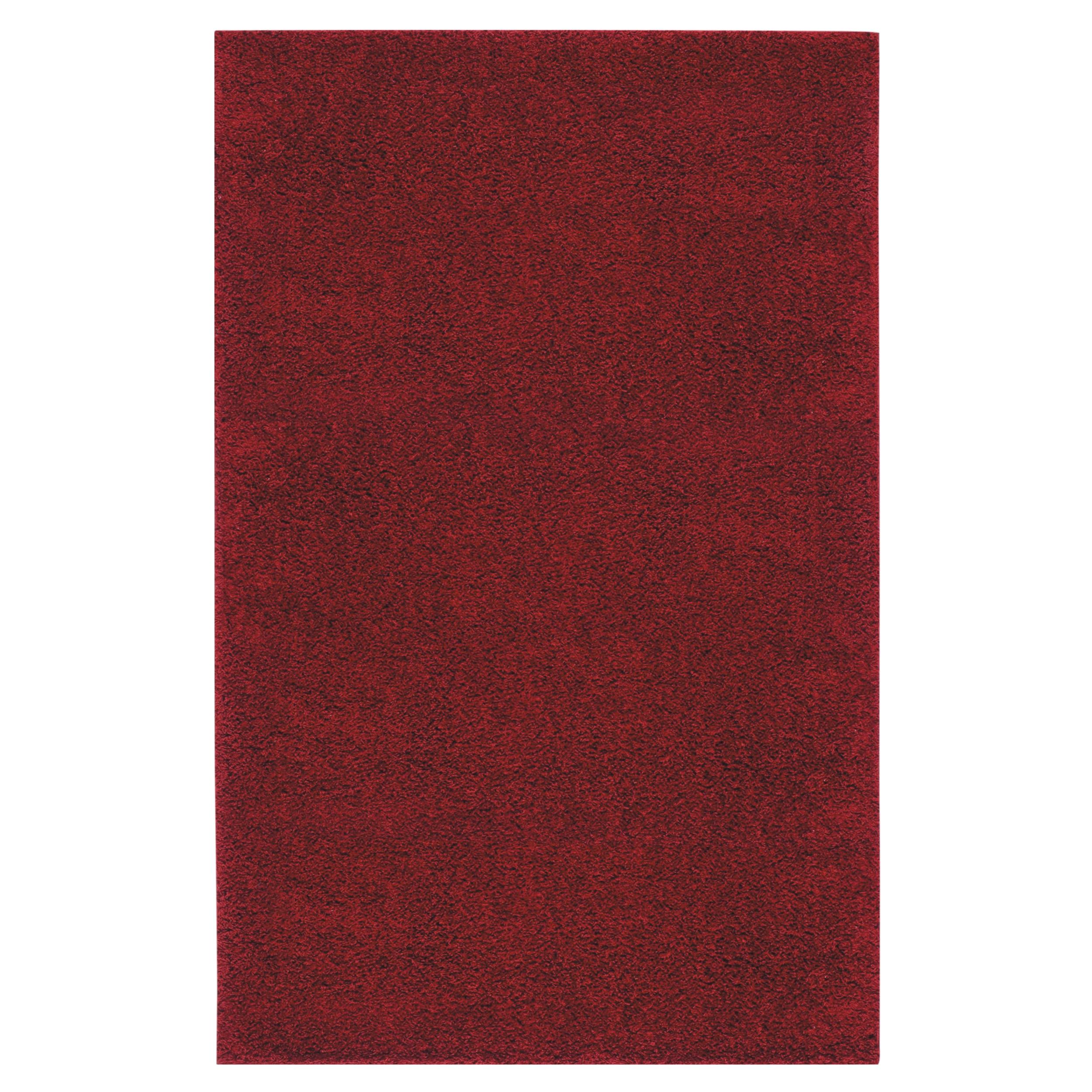Solid Shag Crimson Red Rug (5' x 8')