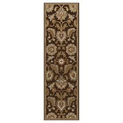 Hand-knotted Chocolate Bexei Wool Rug (2'6 x 8')