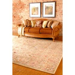 Hand-tufted Tan Adi Semi-Worsted New Zealand Wool Rug (3'3 x 5'3)