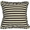 Marley Brown and Ivory Stripe Euro Sham