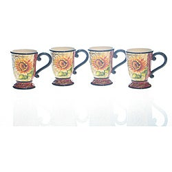 Certified International Tuscan Sunflower 15-ounce Mugs (Pack of 4)