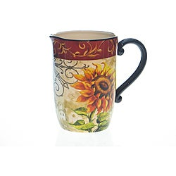 Certified International Tuscan Sunflower 3-quart Pitcher