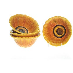 Certified International 'Tuscan Sunflower' 6.25-inch Ice Cream Bowls (Set of 4)