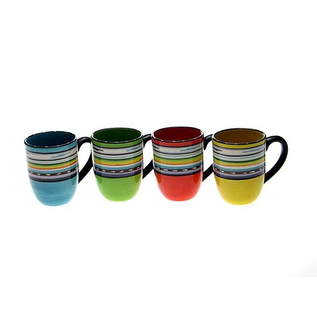 Certified International 'Santa Fe' 17-oz. Mug (Set of 4)