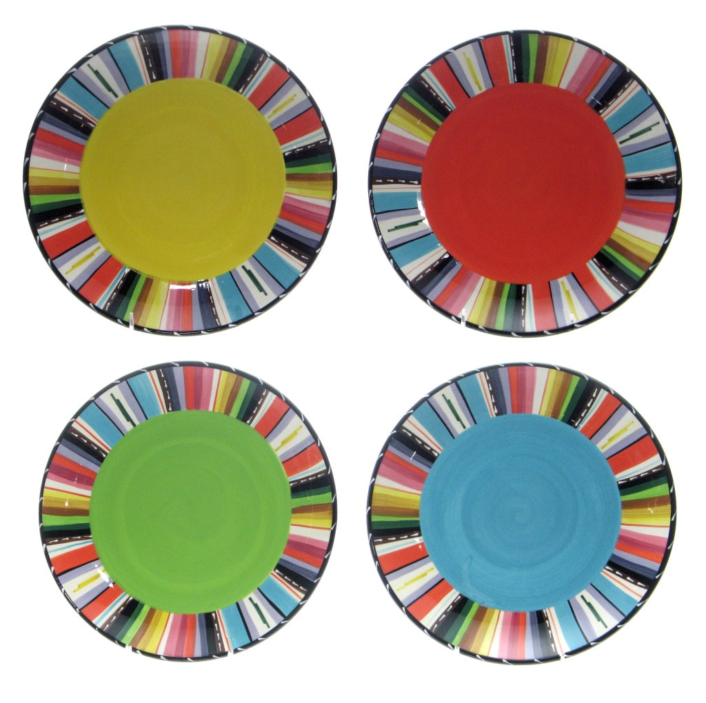 Certified International 'Santa Fe' 10.75-inch Dinner Plates (Set of 4)