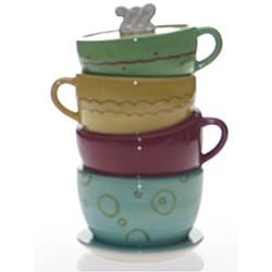 Certified International Java Time 11- inch Cookie Jar