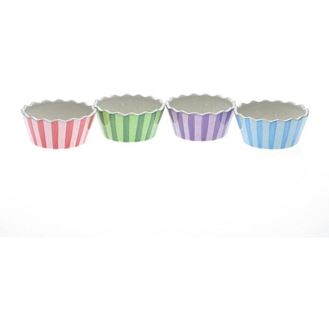 Certified International Cupcake Ice Cream Bowls (Set of 4)