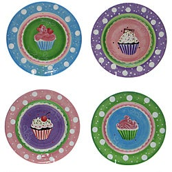 Certified International Cupcake Dessert Plates (Set of 4)