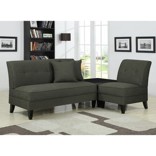 Portfolio Engle Charcoal Gray Linen 3-piece Sofa Set