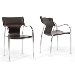 Harris 2-piece Brown Modern Dining Chair Set