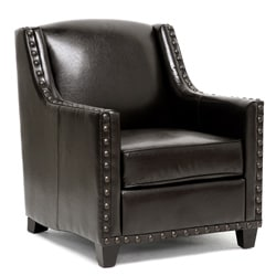 Wallace Dark Brown Modern Club Chair
