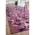 nuLOOM Handmade Pino Purple Celebrations Confetti Burst Rug (6' x 9')