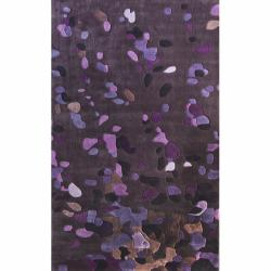 nuLOOM Handmade Pino Purple Celebrations Confetti Burst Rug (3'6 x 5'6)