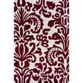 nuLOOM Handmade Pino Red Tribal Damask Rug (8'3 x 11')