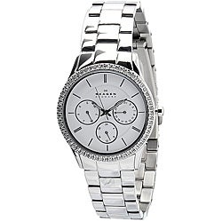 Skagen Women's White Dial Chronograph Watch