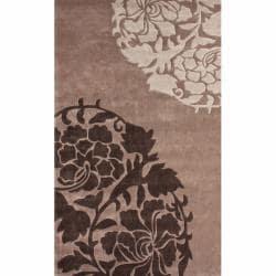 nuLOOM Handmade Pino Brown Rose Fantasy Rug (8'3 x 11')
