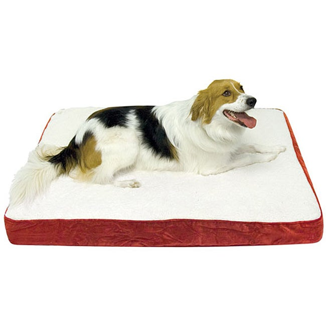 """Ozzie Orthopedic Dog Bed - Large (36 x 48"""") - Deep Red"""