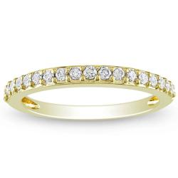 Miadora 14k Yellow Gold 1/4ct TDW Diamond Stackable Ring (G-H, I1-I2)