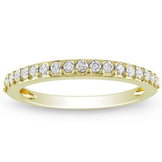 Miadora 14k Yellow Gold 1/4ct TDW Diamond Anniversary Band (G-H, I1-I2)