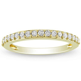 Miadora 14k Yellow Gold 1/4ct TDW Diamond Band (G-H, I1-I2)