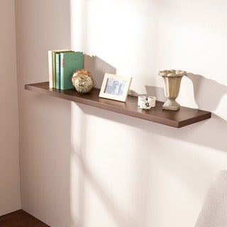 Vermont 48-inch Espresso Floating Shelf