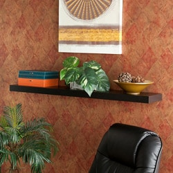 Tampa 48 inch Black Floating Shelf