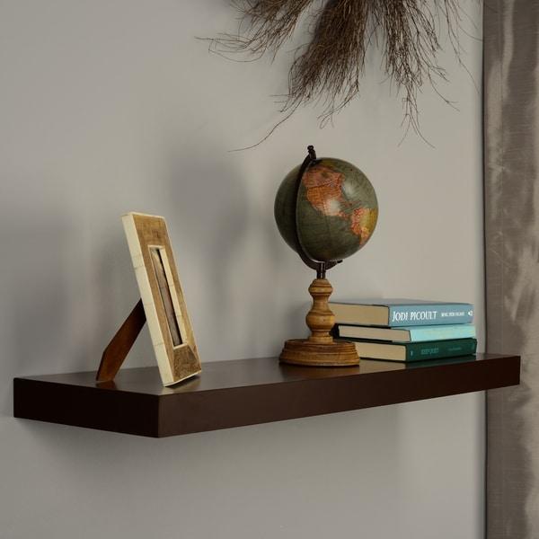 Upton Home Tampa 36-inch Espresso Floating Shelf
