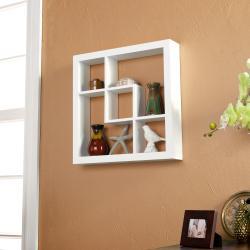Upton Home Carrington White 16-inch Display Shelf