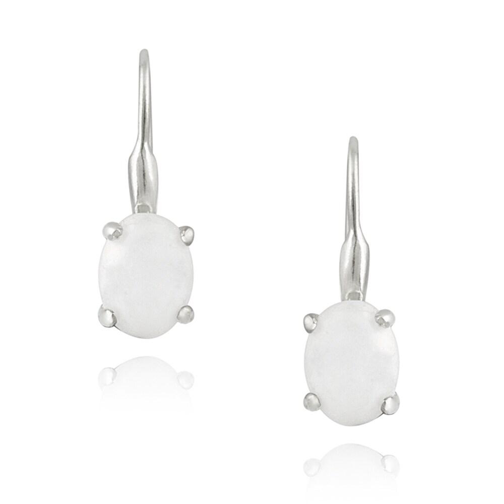 Glitzy Rocks Sterling Silver Mother of Pearl Earrings (2 1/2ct TGW)