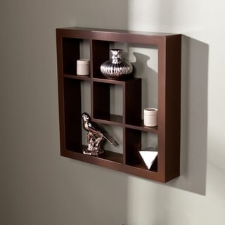Carrington Espresso 16-inch Display Shelf