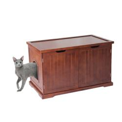 Walnut Kitty Condo Bench
