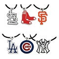 Silvertone Major League Baseball Team Cord Necklace