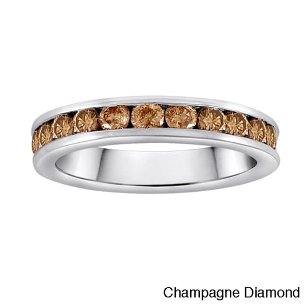 Sterling Silver 1ct TDW Diamond Anniversary Band