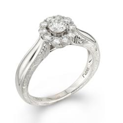 14k White Gold 1/2ct TDW Round Diamond Engagement Ring (H-I, I1-I2)