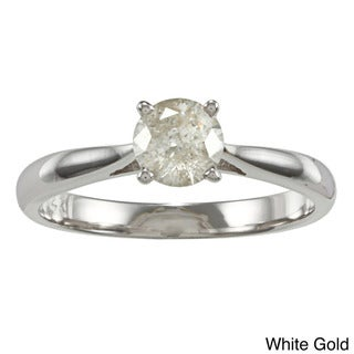 Auriya 14k Gold 1/2ct TDW Diamond Solitaire Engagement Ring (K-L, I2-I3)