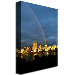 Ariane Moshayedi 'Skyline Rainbow' Medium Canvas Art