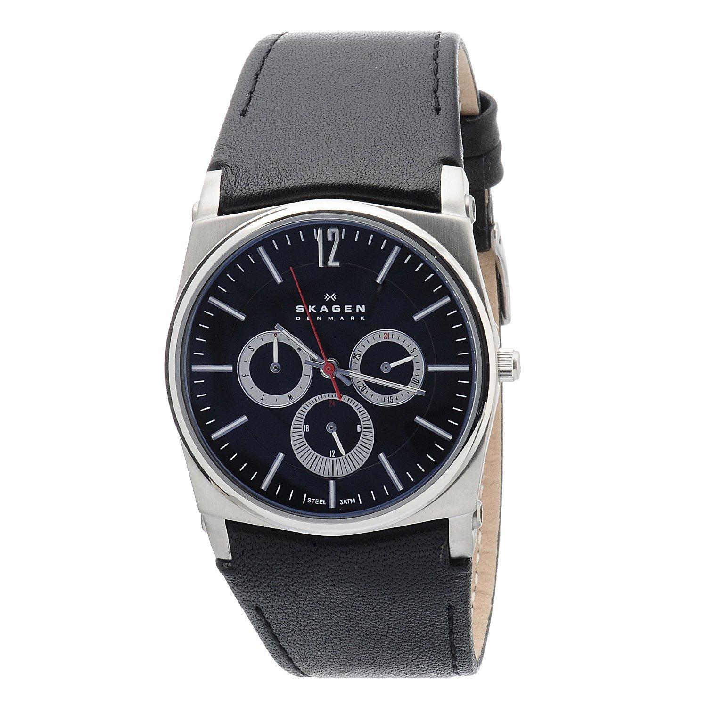 Skagen Men's 759LSLB1 Classic Round Black Strap Watch