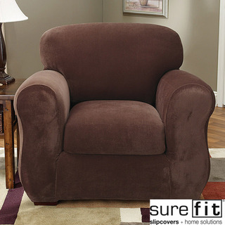 Stretch Pique 3-piece Chair Slipcover