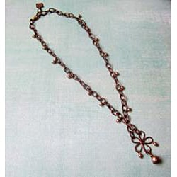 Vintage Brass Floral Necklace