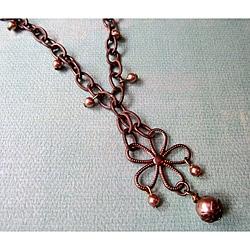 Vintage Brass Floral Necklace